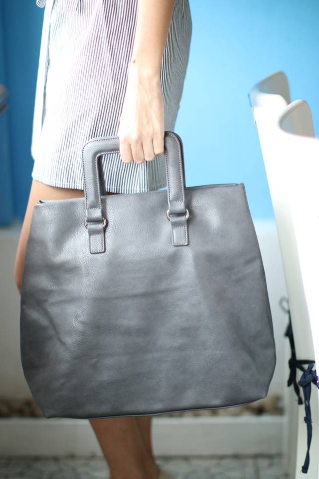Macy All-In Shopper Bag in Dark Grey
