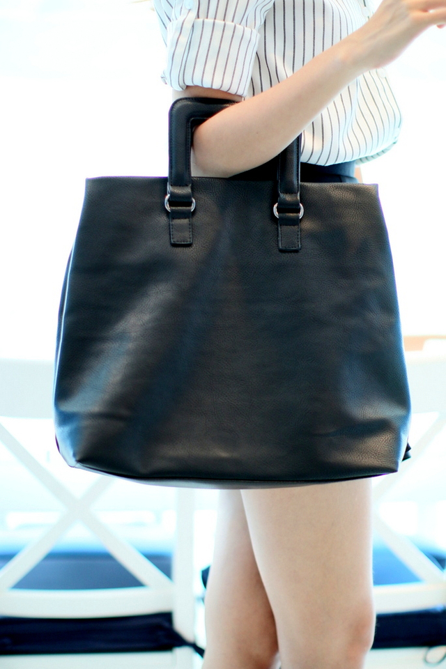 Macy All-In Shopper Bag in Black