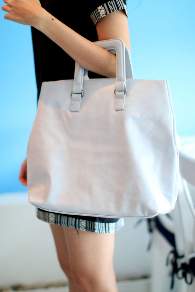 Macy All-In Shopper Bag in Ice Grey