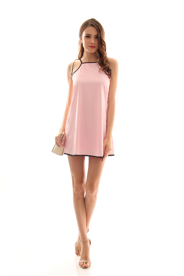 TSW Kairos Contrast Swing Dress in Pink (L)