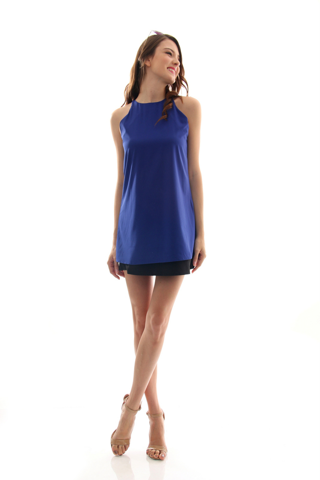 TSW Lunchbox Lady Swing Dress in Midnight Blue (L)