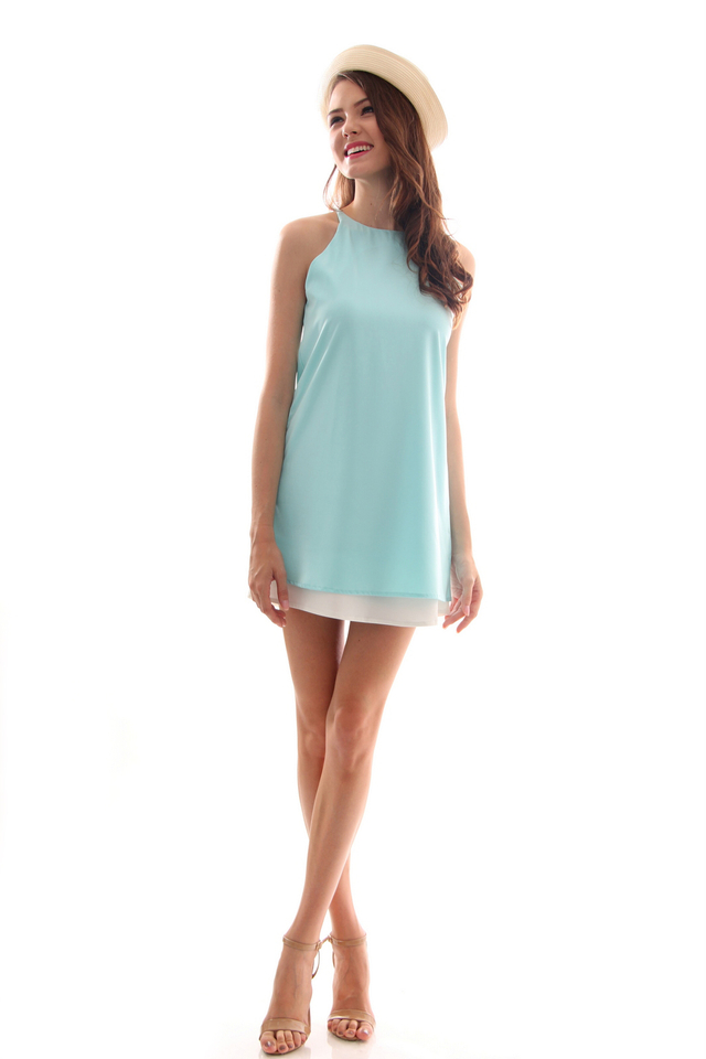 TSW Lunchbox Lady Swing Dress in Mint (L)