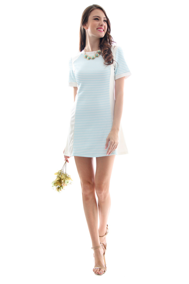 TSW Skywalker Speckled A-Line Dress in Tiffany (XS)