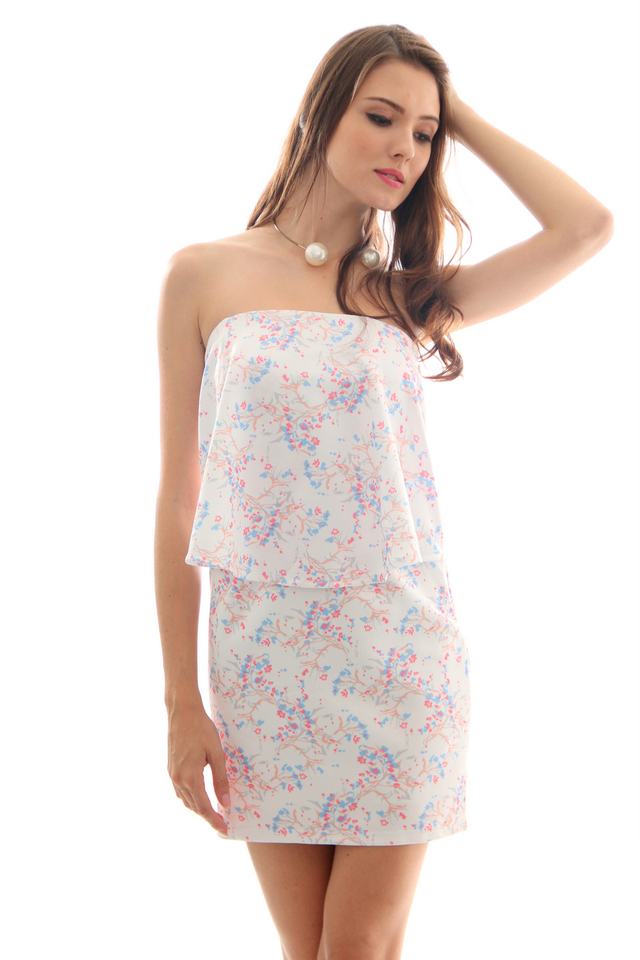 TSW Bronwen Flutter Tube Dress in Periwinkle