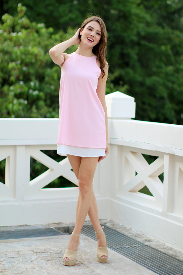 TSW Lunchbox Lady Swing Dress in Soft Pink (L)