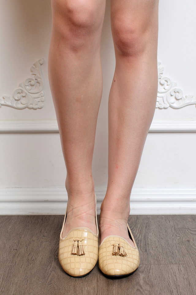 TSW Crossroads Tassel Loafers in Beige