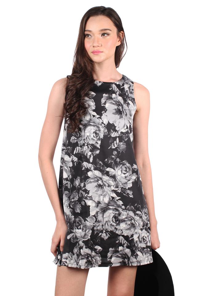 TSW Whitney Shift Dress in Dark Rose (L)