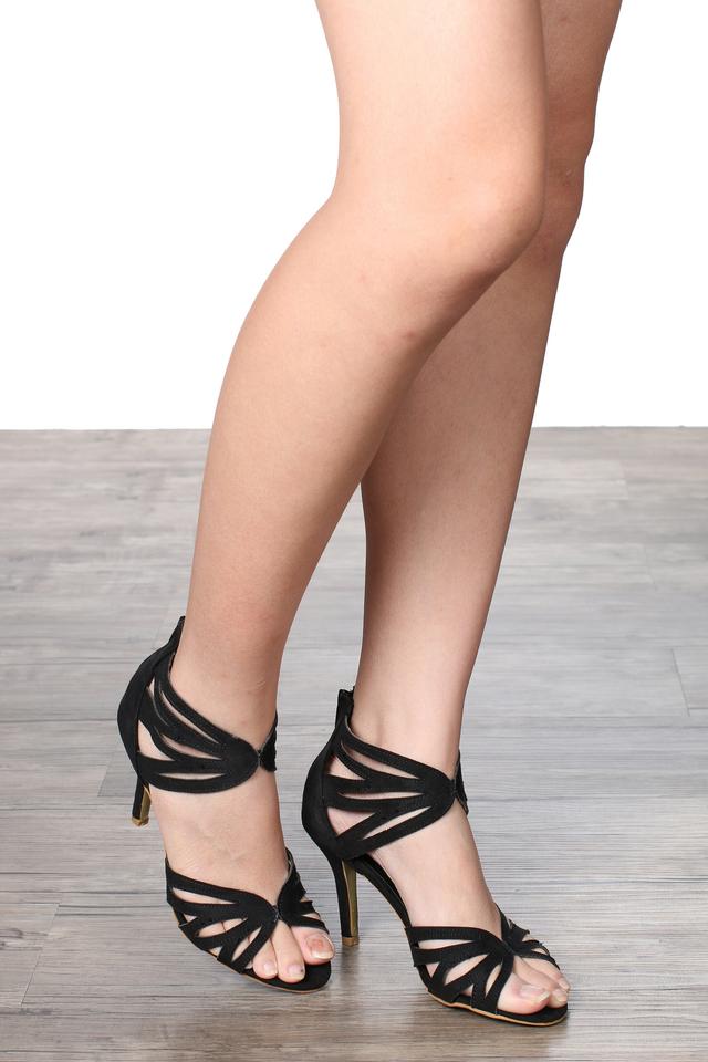 TSW Butterfly Cut Out Heels In Black (38)