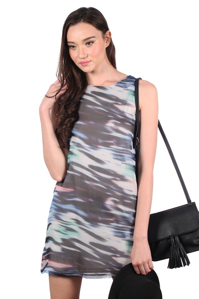 TSW Aggie Shift Dress in Multicolour