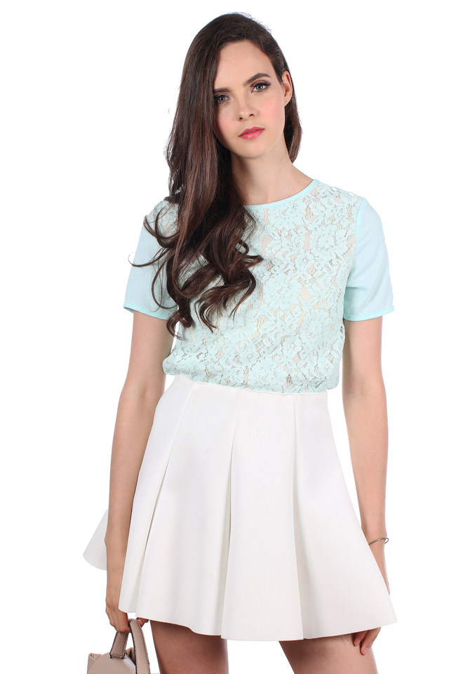 TSW Fleur Charming Lace Top in Mint (XS)