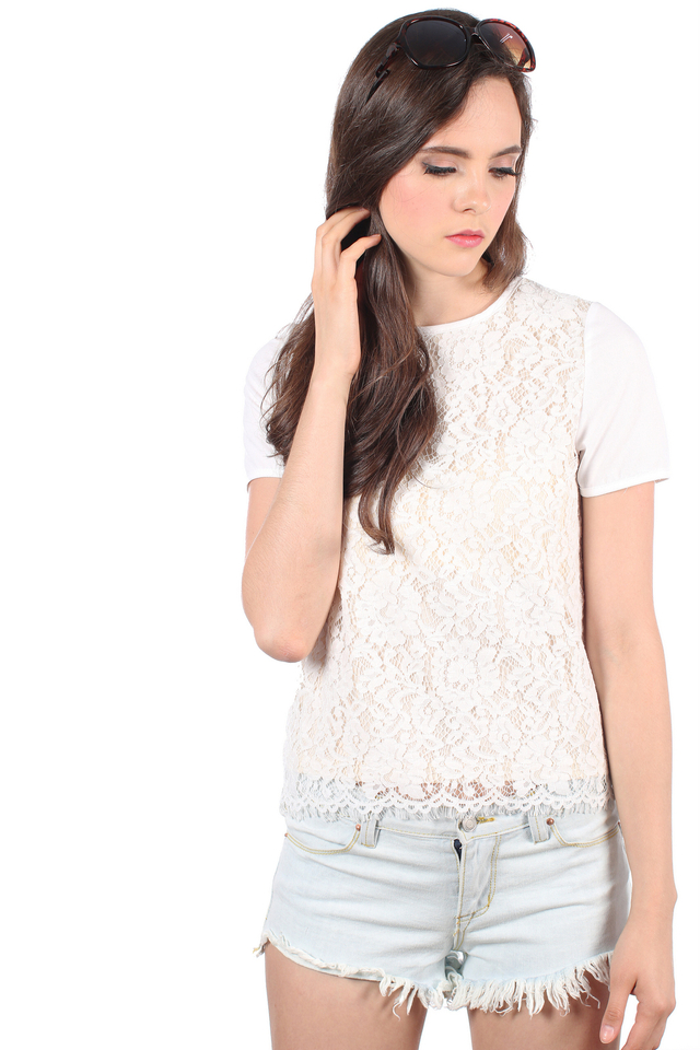 TSW Fleur Charming Lace Top in White