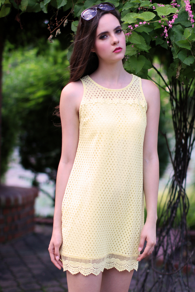 TSW Swanlake Crochet Flare Dress in Sunshine
