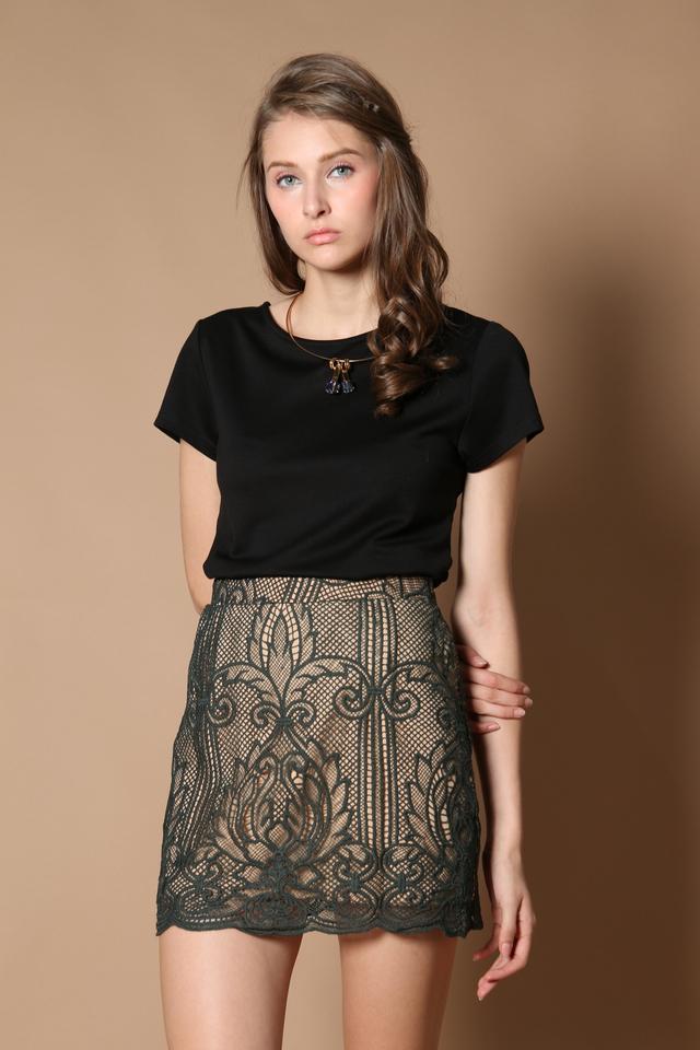 TSW Ellie Crochet Skirt in Forest