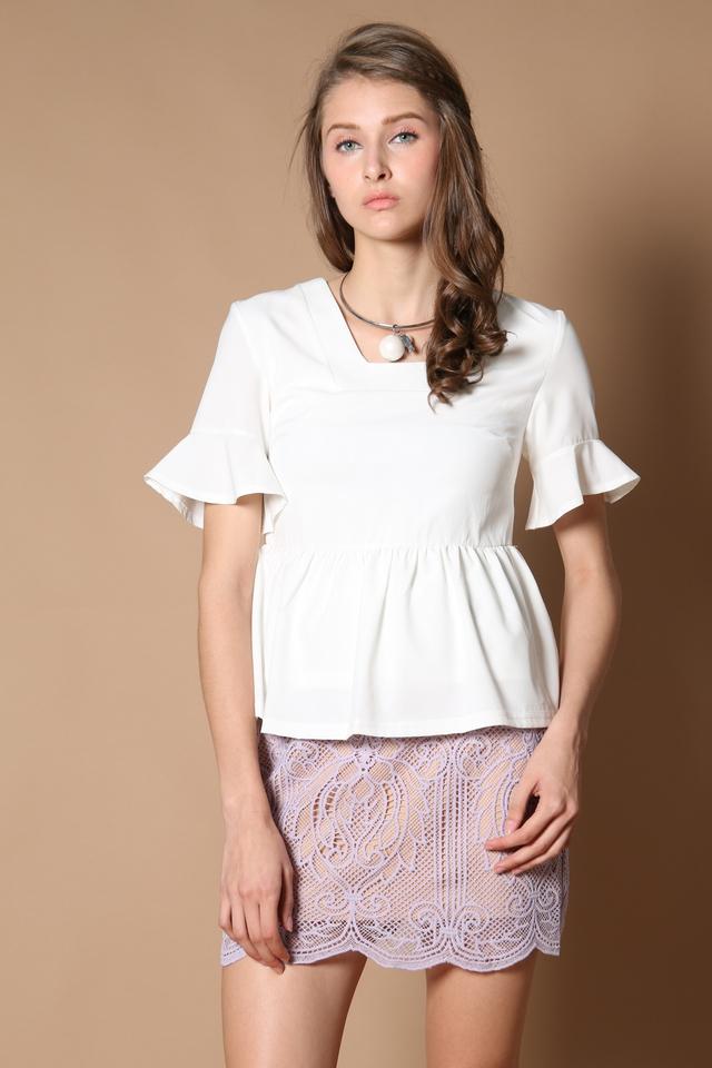 TSW Ellie Crochet Skirt in Lilac (XS)