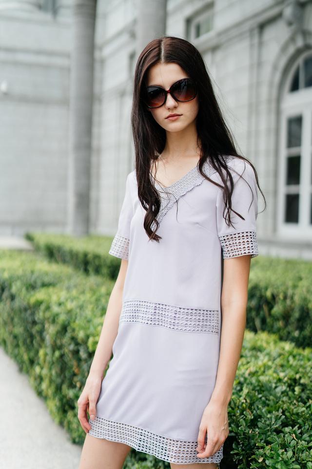Dion Crochet Lounge Dress in Lilac (XS)