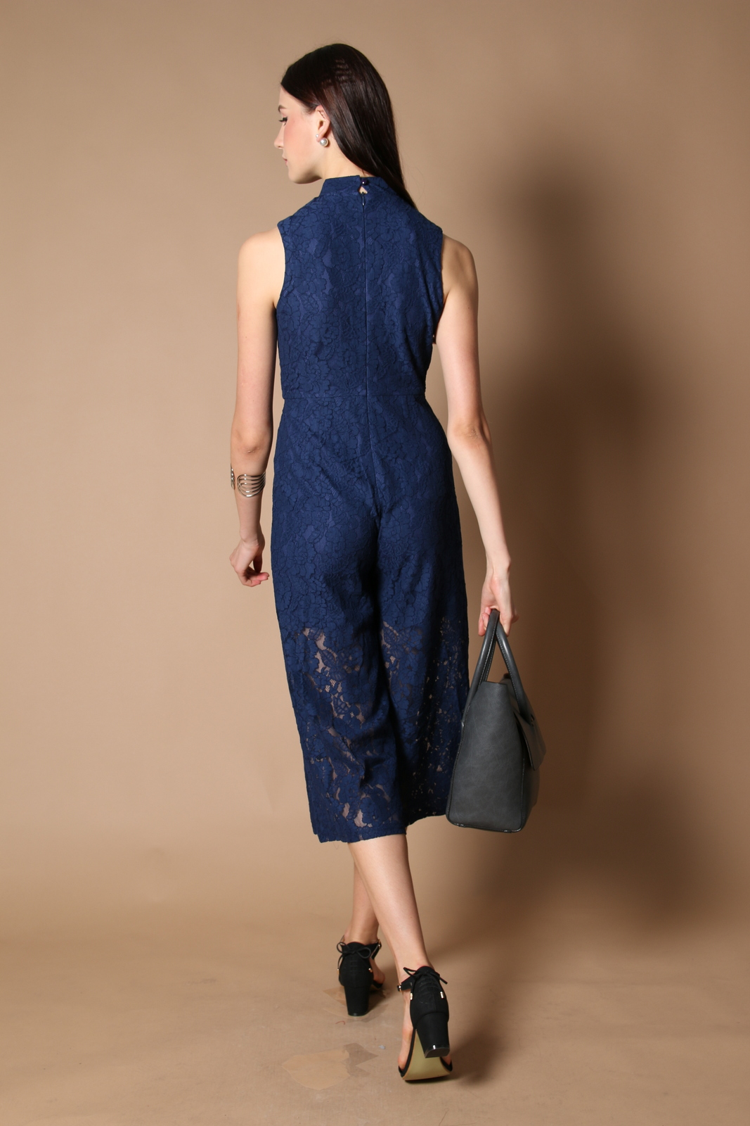 6151448dd706 Trinity Qipao Lace Jumpsuit in Navy (XS)