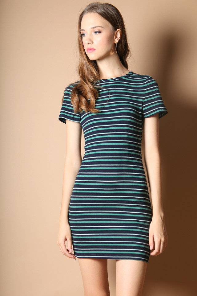 Avana Knit Dress in Green