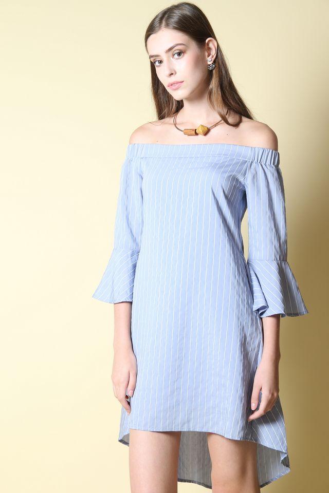 23f08110522 Felice Off Shoulder Dress in Light Blue (L) ...