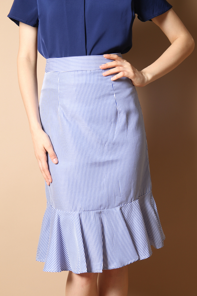Sophie High Waist Skirt in Dark Blue