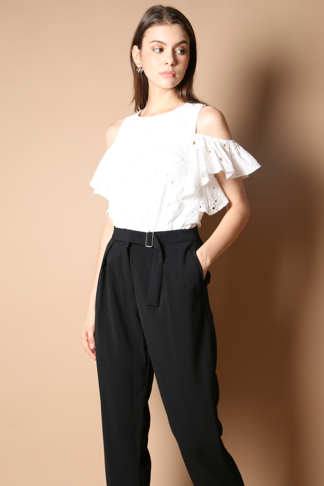 Carol Buckle Work Pants in Black