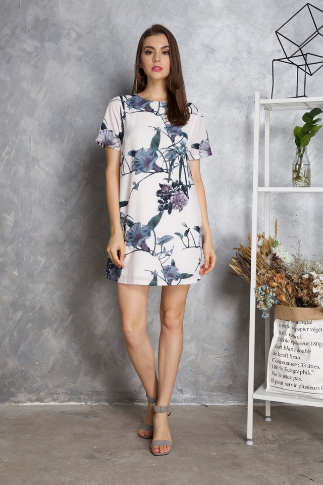 Jackie Shift Dress in Morning Glory