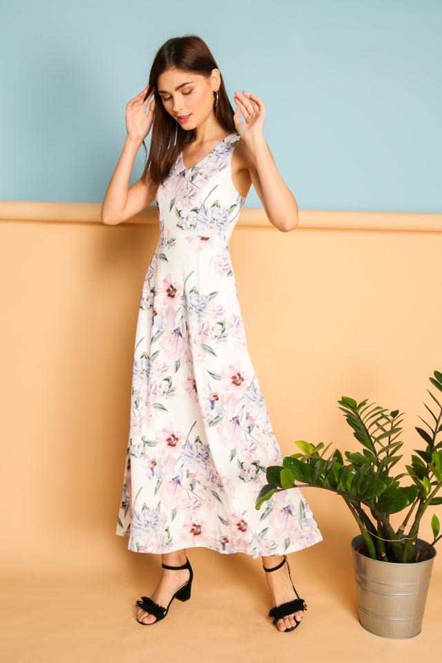 Fulvia Printed Maxi Dress in Multi Colour