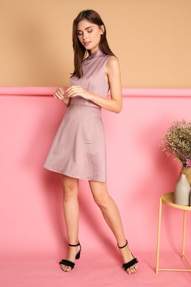 Lise Mandarin Collar Cheongsam in Pink (XS)