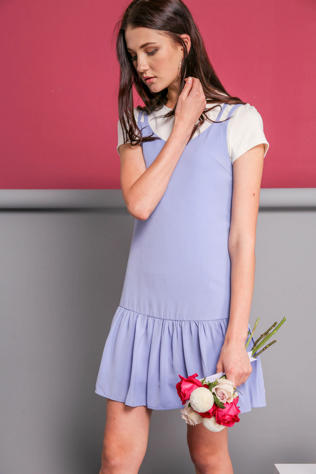 Angela Slip On Dress in Periwinkle