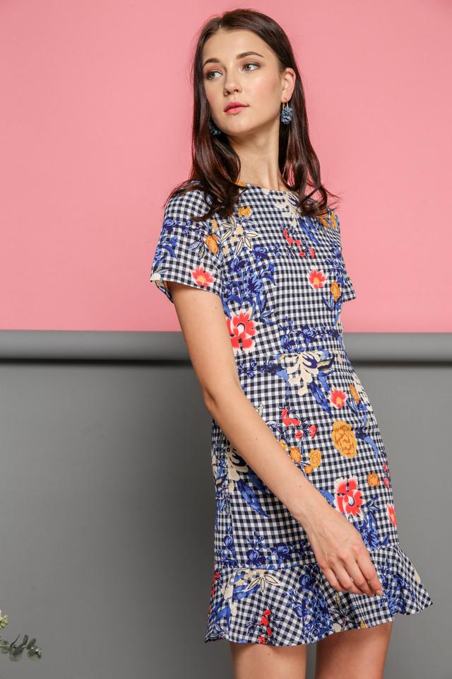 Gianna Dropwaist Dress in Multi Florals