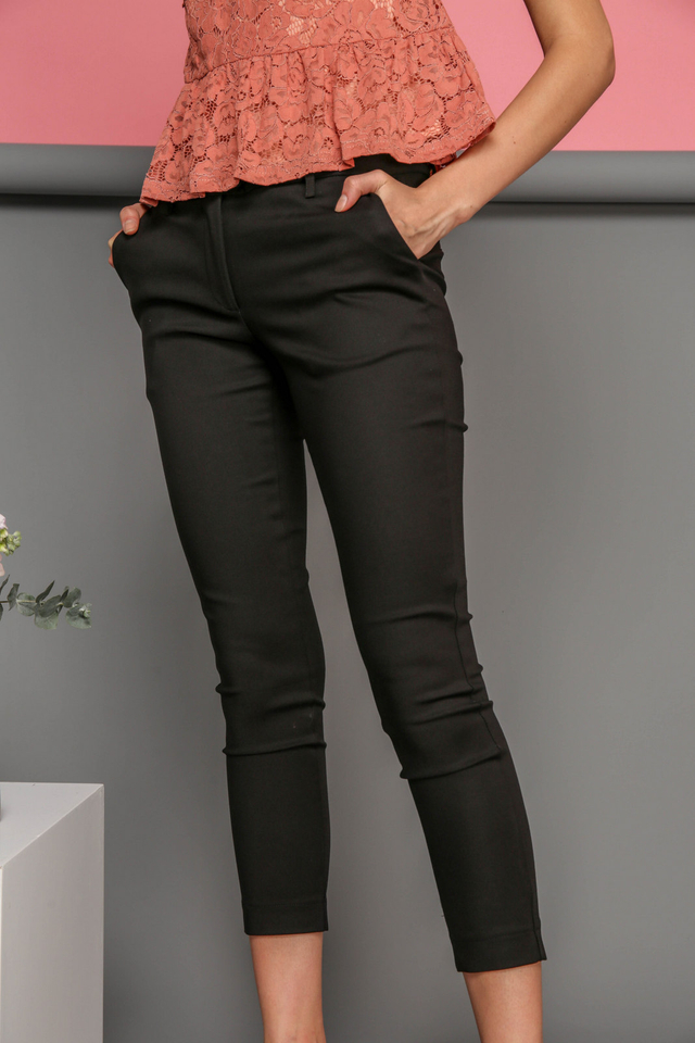 Adley Fitted Work Pants in Black