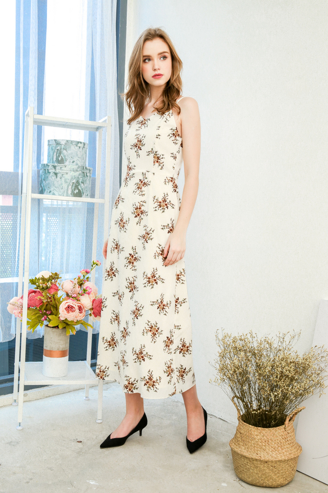 Kimmie Cami Maxi Dress in Cream
