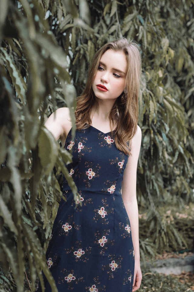 Kimmie Cami Maxi Dress in Navy