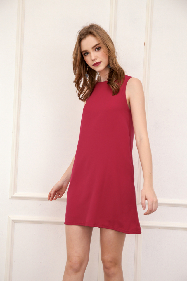 Aspen Shift Dress in Fuschia