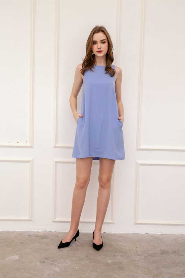 Aspen Shift Dress in Periwinkle