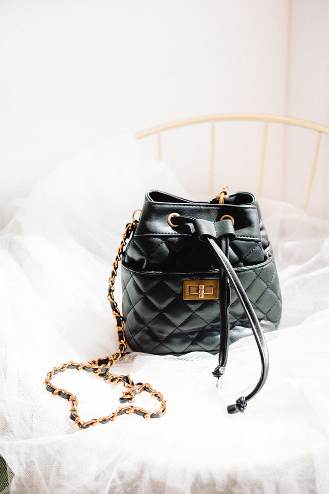 Keiko Quilted Bucket Bag
