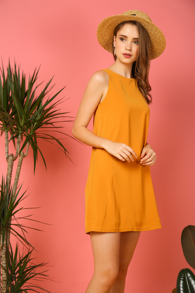 Aspen Shift Dress in Mustard