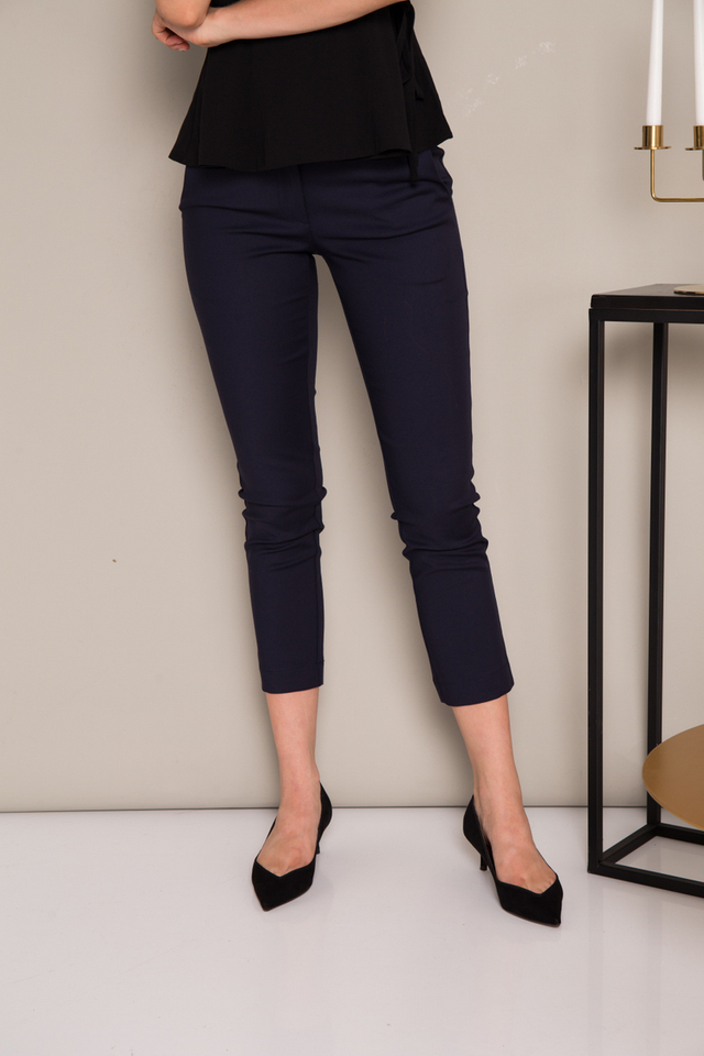 Adley Fitted Work Pants in Navy (XL)