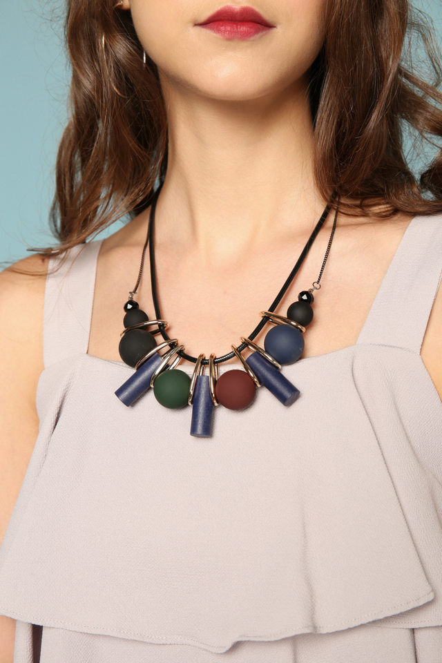 Octavia Geometric Double Chain Necklace