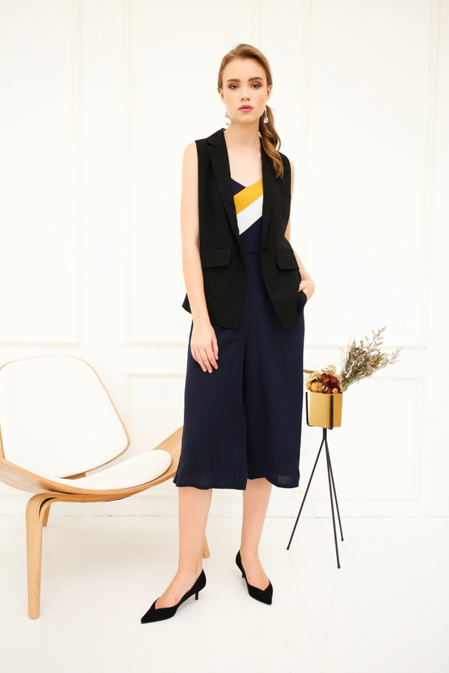 Jei Colourblock Jumpsuit in Navy