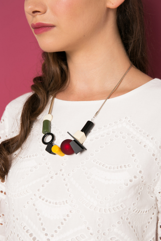 Niko Geometric Necklace in Multi-colour