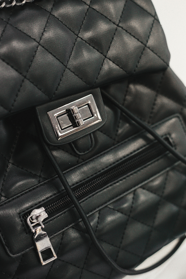 Winola Quilted Backpack in Black