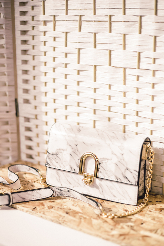Lotty Marble Shoulder Bag