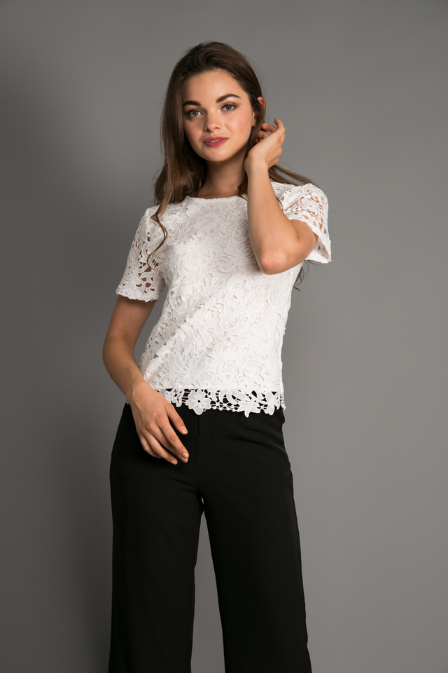 Darla Crochet Top in White