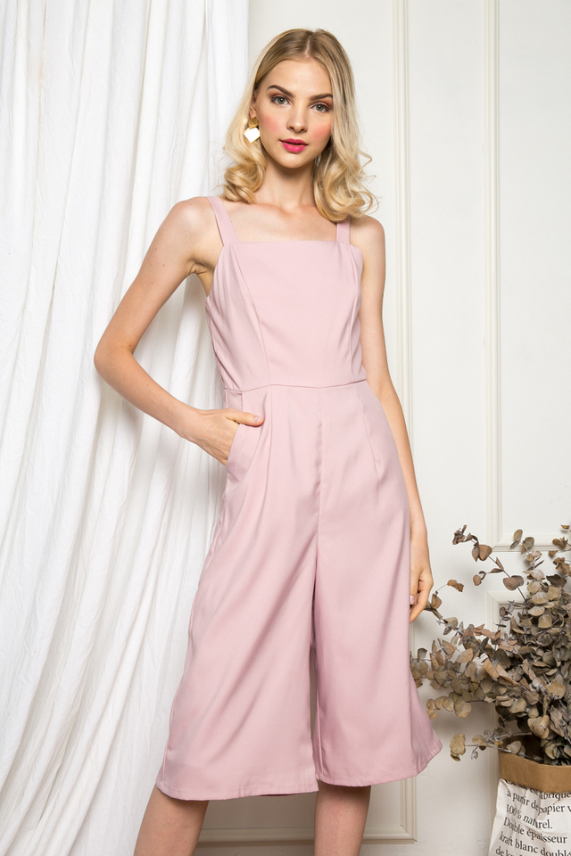 Olivette Basic Jumpsuit in Dusty Pink