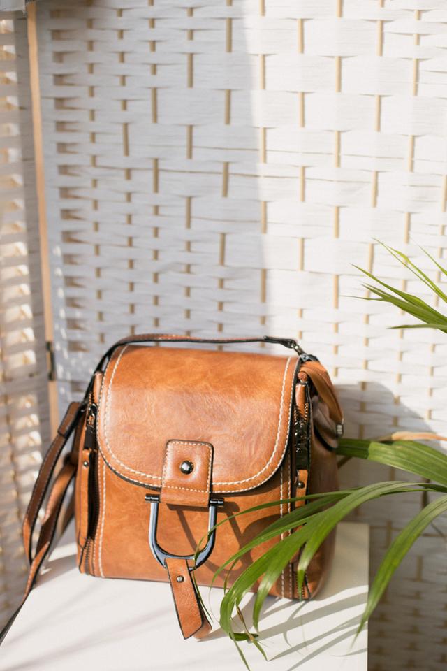 Mylie Satchel Bag in Brown