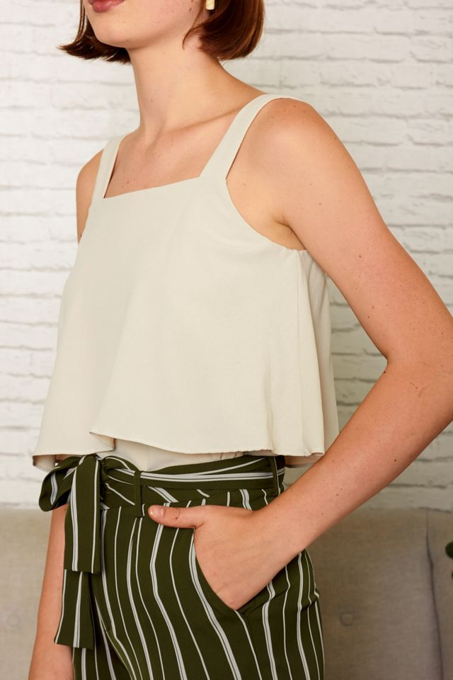 Cathal Layered Top in Cream