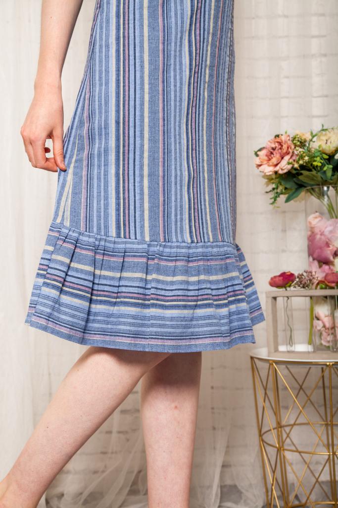 d0e1faac9a9 Linnet Striped Slip Dress in Blue