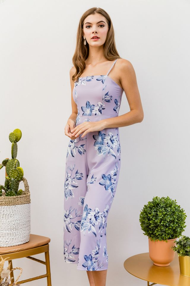 Risario Floral Jumpsuit in Lilac (L)
