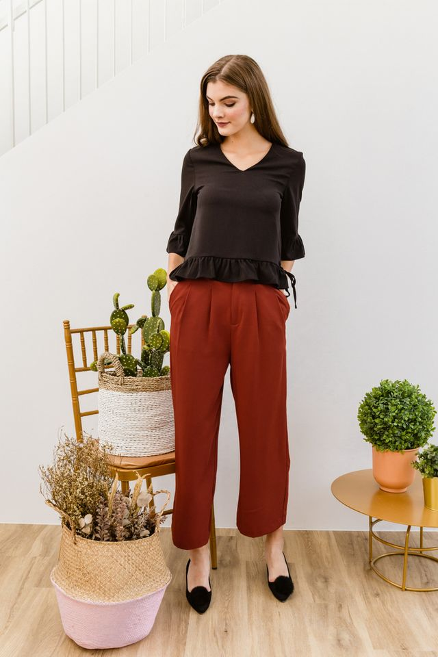 Cantara High Waisted Culottes in Burnt Orange