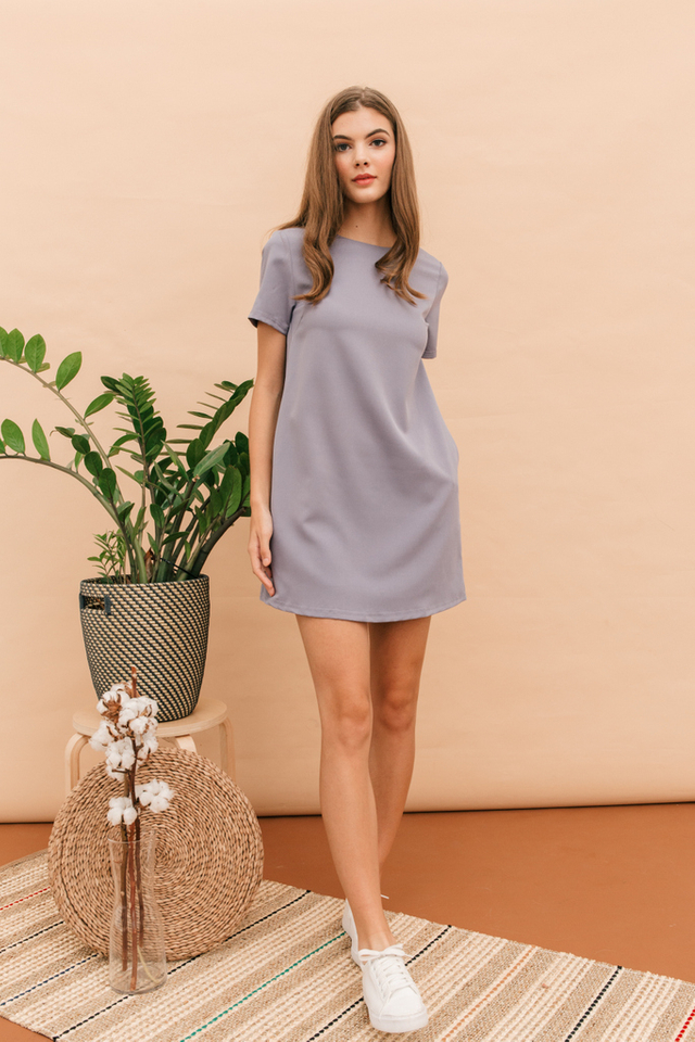 Zen Basic Shift Dress in Lavender
